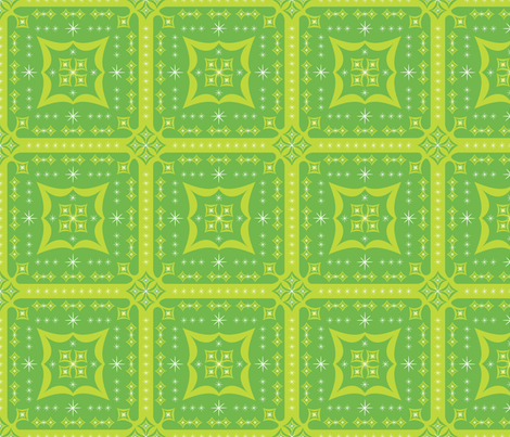 Festive Squares (Green) fabric by robyriker on Spoonflower - custom fabric