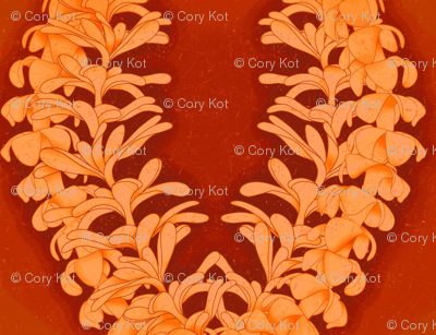 Puakinikini yellow-orange, tiare flower