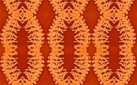 Puakinikini yellow-orange, tiare flower fabric by waiomaotiki on Spoonflower - custom fabric