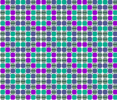 Tartan Twist Tiles fabric by wild_berry on Spoonflower - custom fabric