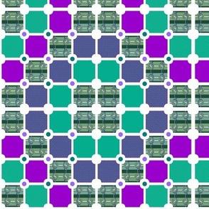 Tartan Twist Tiles