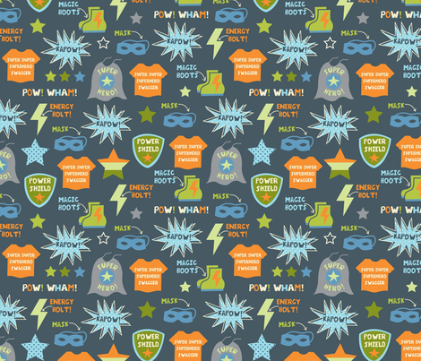 Superhero Power! fabric by amel24 on Spoonflower - custom fabric