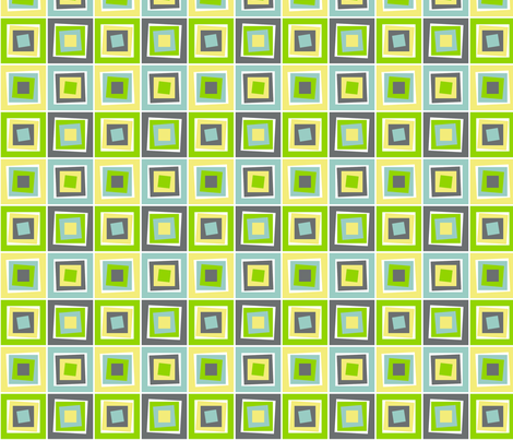 Skewed Cubes Apple fabric by wild_berry on Spoonflower - custom fabric