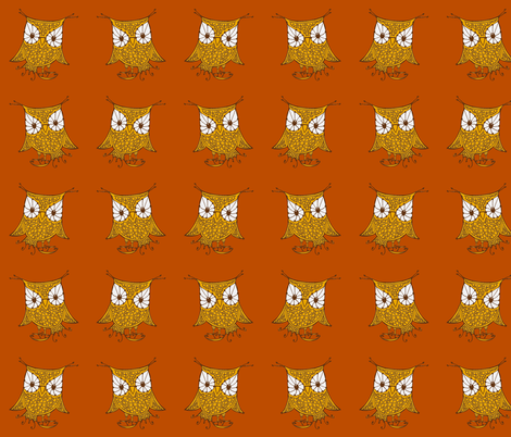 mirrored_owl_fabric fabric by cheeseandchutney on Spoonflower - custom fabric