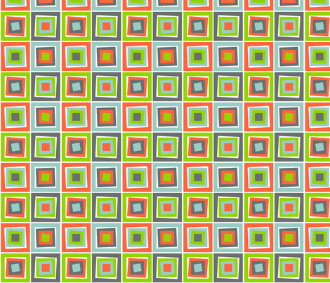 Skewed Cubes Melon fabric by wild_berry on Spoonflower - custom fabric