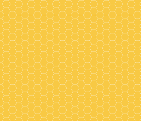 Really  Yellow Honeycomb fabric by oceanpien on Spoonflower - custom fabric