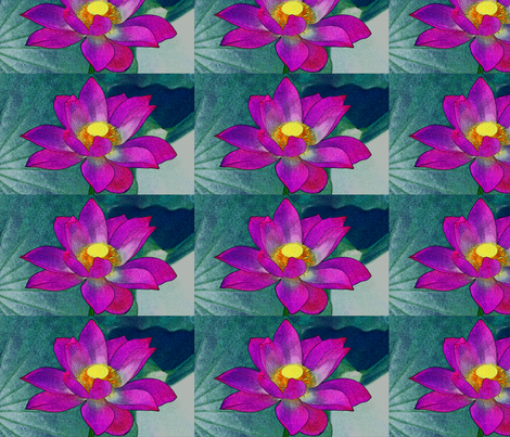 water lily #1 fabric by technorican on Spoonflower - custom fabric