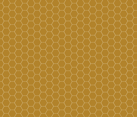 Really Brown Honeycomb fabric by oceanpien on Spoonflower - custom fabric