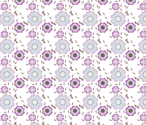 Heartflowers fabric by msnina on Spoonflower - custom fabric