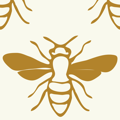 Brown Big Bee fabric by oceanpien on Spoonflower - custom fabric