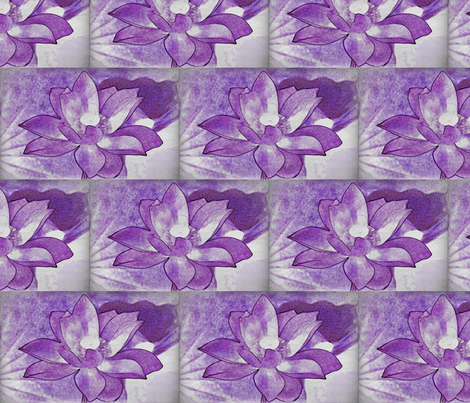 water lily #4 fabric by technorican on Spoonflower - custom fabric