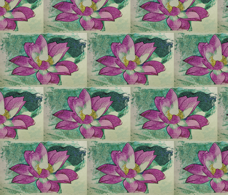 water lily #5 fabric by technorican on Spoonflower - custom fabric