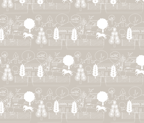 No. 46 Natural fabric by leeandallandesign on Spoonflower - custom fabric