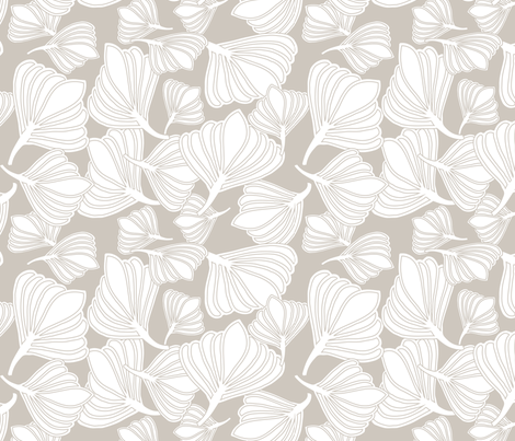 Tulip Seeds Naturals fabric by leeandallandesign on Spoonflower - custom fabric