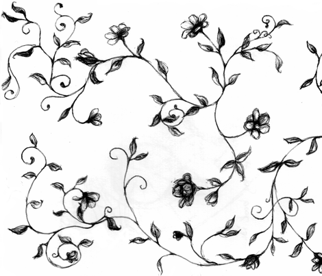 floralsketch fabric by msnina on Spoonflower - custom fabric