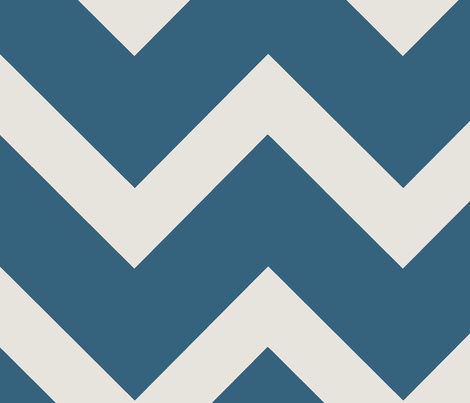Thick Bright Navy Teal Chevron fabric by karmie on Spoonflower - custom fabric
