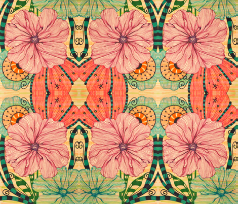 Blooming Color fabric by syllatham on Spoonflower - custom fabric