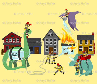 The Dinosaur and Firefighter Brigade