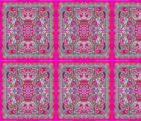 Sew and Cut Fringed napkin, scarf, or palcemat fabric by edsel2084 on Spoonflower - custom fabric