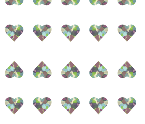 HeartHeart2 fabric by msnina on Spoonflower - custom fabric
