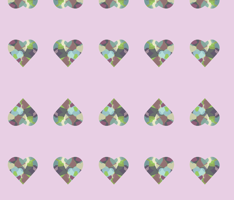 HeartHeart-purple fabric by msnina on Spoonflower - custom fabric