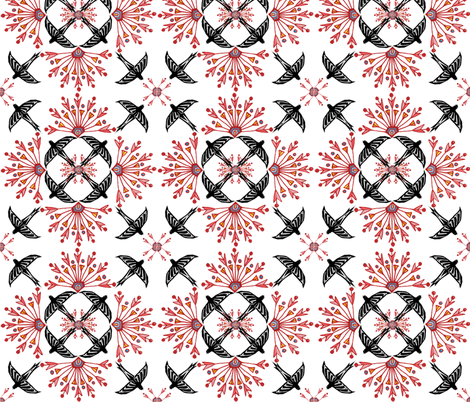 nileflowersFlock2 fabric by atomic_bloom on Spoonflower - custom fabric