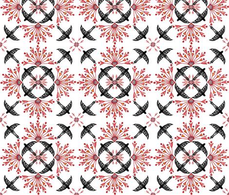 nileflowersFlock2 fabric by atomic_bloom on Spoonflower - custom fabric