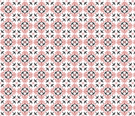 norwegian red nile fabric by atomic_bloom on Spoonflower - custom fabric