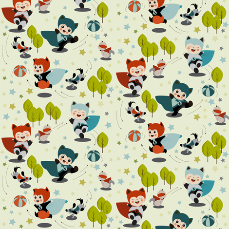 Super Kids fabric by theboutiquestudio on Spoonflower - custom fabric