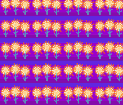 Star Flowers fabric by wild_berry on Spoonflower - custom fabric