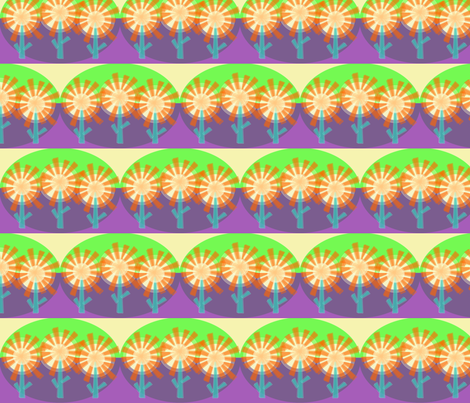 Star Flowers Purple Haze fabric by wild_berry on Spoonflower - custom fabric