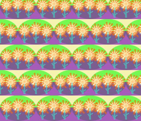 Star Flowers Purple Haze fabric by wild_berry on Spoonflower - custom fabric