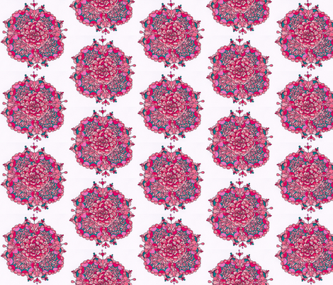 pink_flower fabric by e_louise_ on Spoonflower - custom fabric