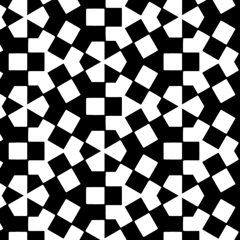Zijtwende Black & White fabric by stoflab on Spoonflower - custom fabric
