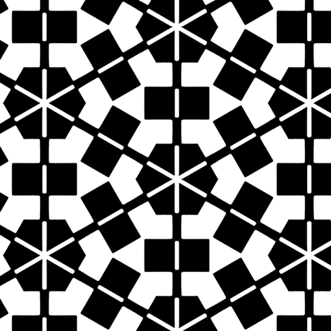 Greven Black & White fabric by stoflab on Spoonflower - custom fabric