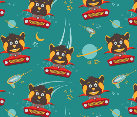 be_my_space_hero fabric by vervèr on Spoonflower - custom fabric