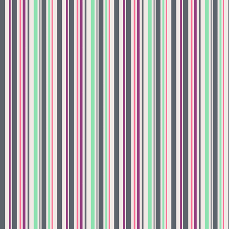 minty melon berry grey stripe fabric by pinkbrain on Spoonflower - custom fabric