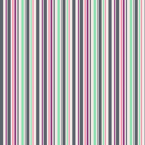 minty melon berry grey stripe fabric by pinkbrain on Spoonflower - custom fabric