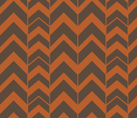 Chevron-Pumpkin fabric by designertre on Spoonflower - custom fabric