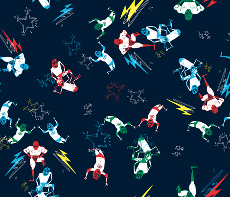 lucha_ok fabric by xingili on Spoonflower - custom fabric
