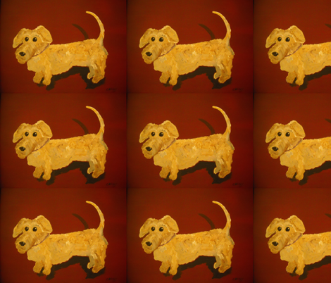 Henrys Puppy Portrait fabric by kcaauwe on Spoonflower - custom fabric