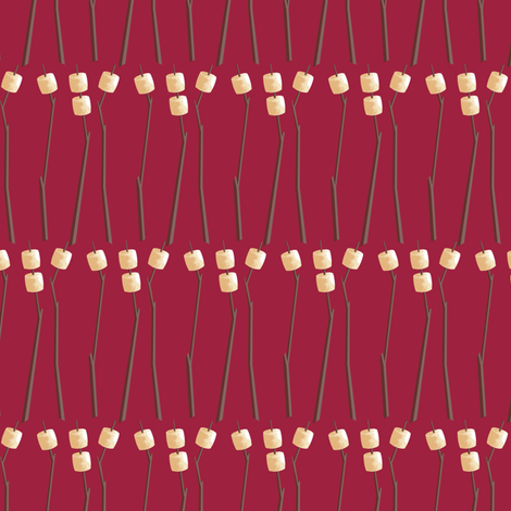 Roasting Marshmallows fabric by siya on Spoonflower - custom fabric