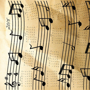 2015 Year of Music Tea Towel Calendar