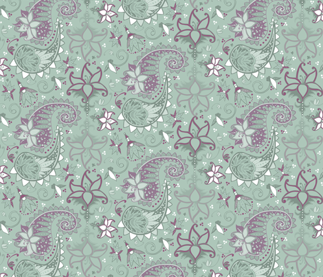 Filigreed fabric by kari_d on Spoonflower - custom fabric