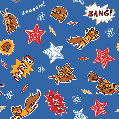Squirrel Power! fabric by liz-adams on Spoonflower - custom fabric