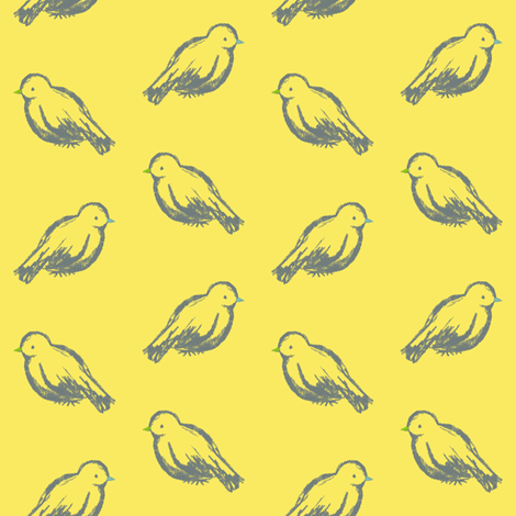 Canaries fabric by randomarticle on Spoonflower - custom fabric