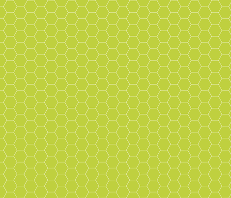 Really Green Honeycomb fabric by oceanpien on Spoonflower - custom fabric
