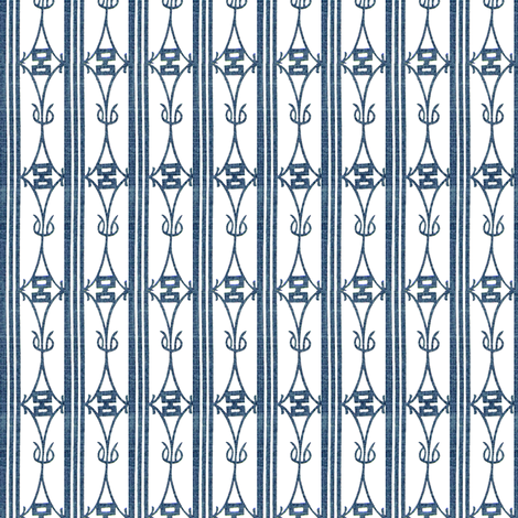 Diamond Stripe - navy blue and white fabric by materialsgirl on Spoonflower - custom fabric