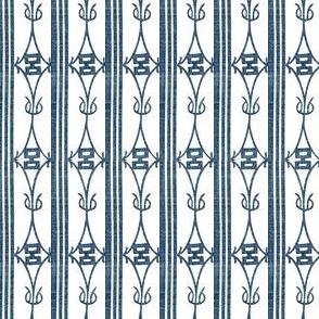 Diamond Stripe - navy blue and white