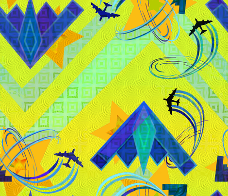 Hero Pilots fabric by wren_leyland on Spoonflower - custom fabric